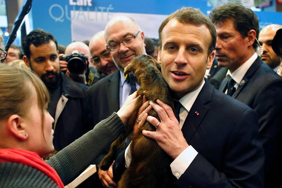 Emmanuel Macron - Feira em Agricola Paris