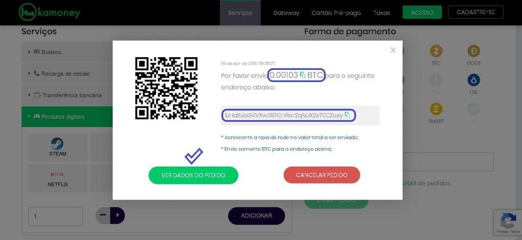 Como pagar netflix com Bitcoin