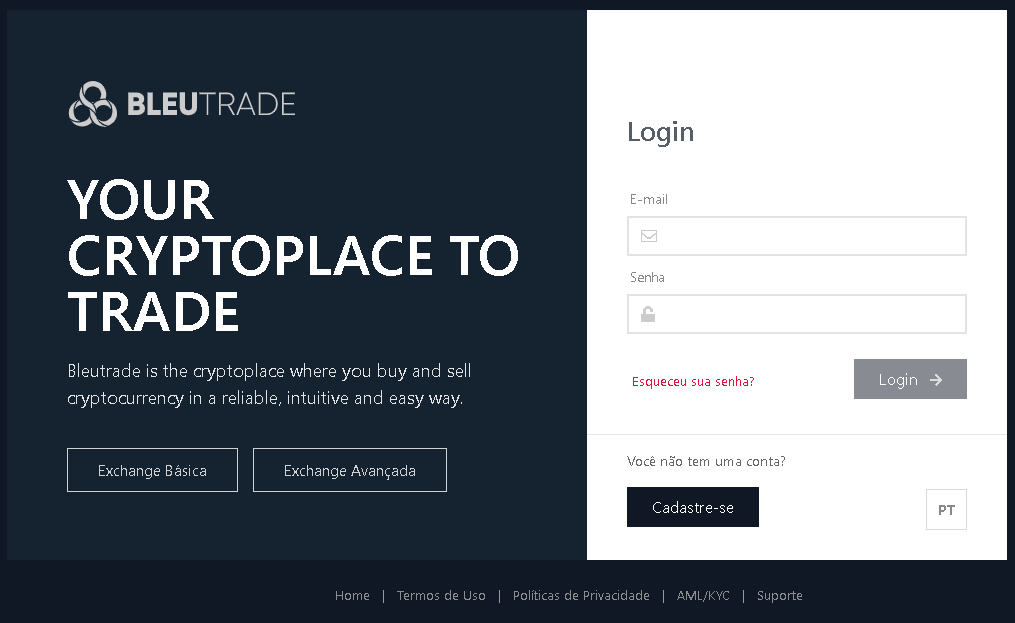 Nova plataforma Bleutrade
