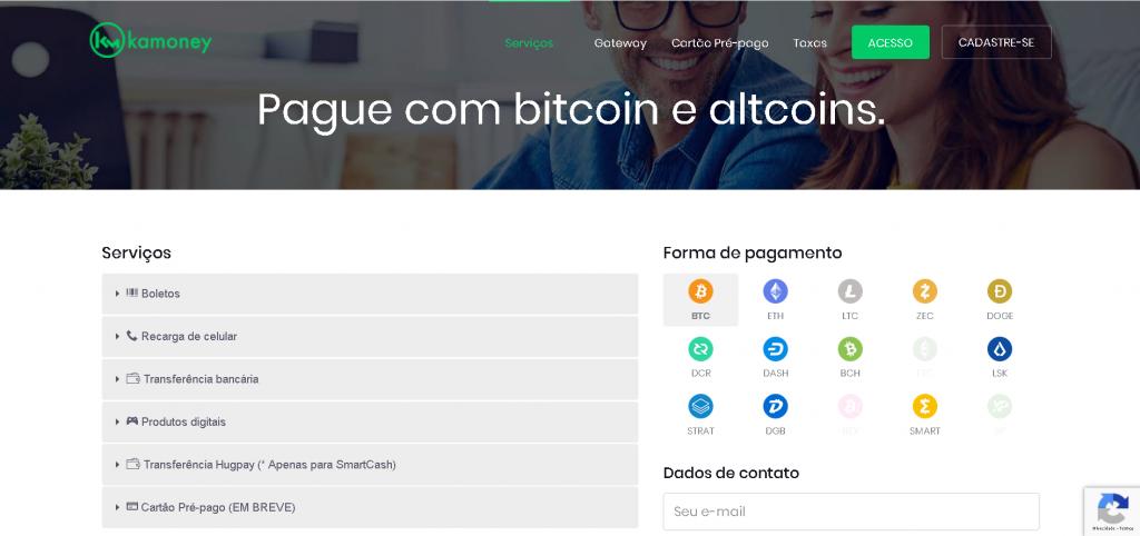 Pague com Bitcoin