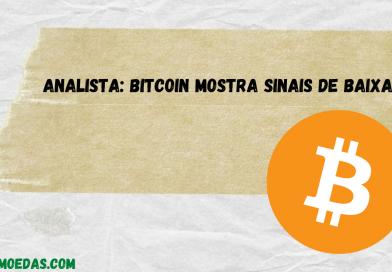Analista: bitcoin mostra sinais de baixa